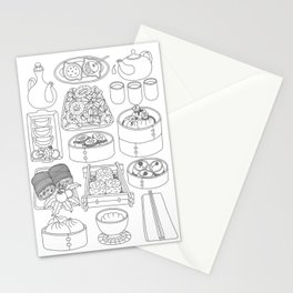Sunday Dim Sum - Line Art Stationery Cards