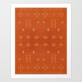 N248 - Lovely Brown Camel Berber Oriental Bohemian Moroccan Fabric Style Art Print