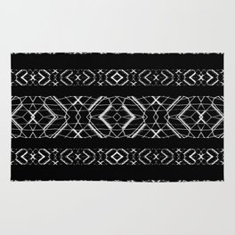 Futuristic Geometric Stripes Pattern Rug