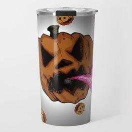 Soul Eater Jack o'lantern . Halloween Pumpkin Travel Mug