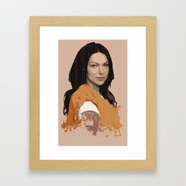 Vause Ass Bitch. Framed Art Print