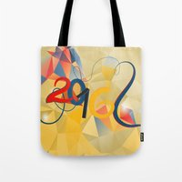 new year Tote Bags featuring new year by luiza13