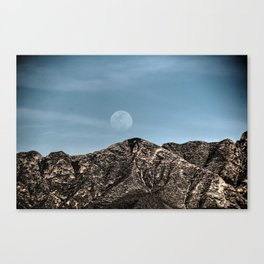 Moon over the Franklin Mountains Canvas Print