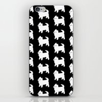 westie iPhone & iPod Skins featuring Westie Dog Pattern by Antique Images