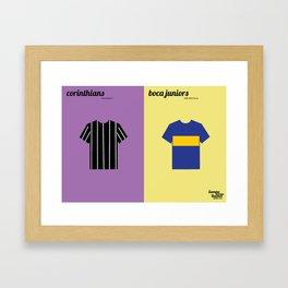 Corinthians x Boca Juniors Framed Art Print