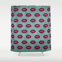 lips Shower Curtains featuring LIPS by AMULET