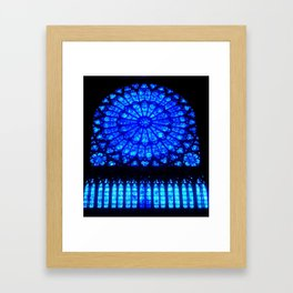 Notre Dame Stained Glass Framed Art Print