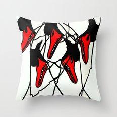 Moving Swan Throw Pillow