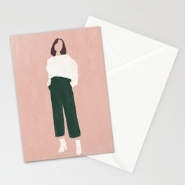 Pink + Green Stationery Cards
