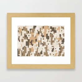 Digital Desert Camo Framed Art Print