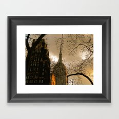 Empire State From Bryant Park Framed Art Print