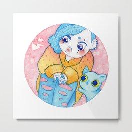 Umie & Mochi II Metal Print