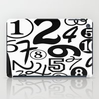 numbers iPad Cases featuring Numbers by Sweet Colors Gallery