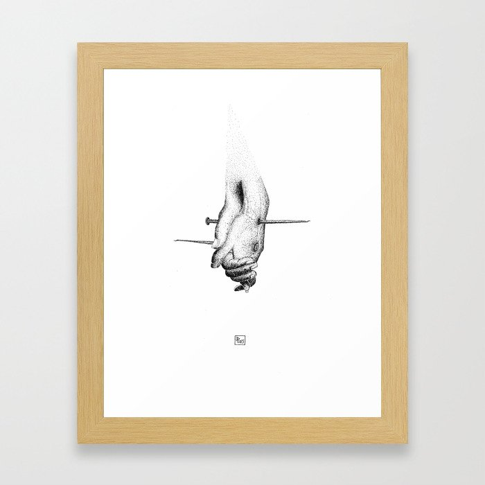 All we need is pain Framed Art Print
