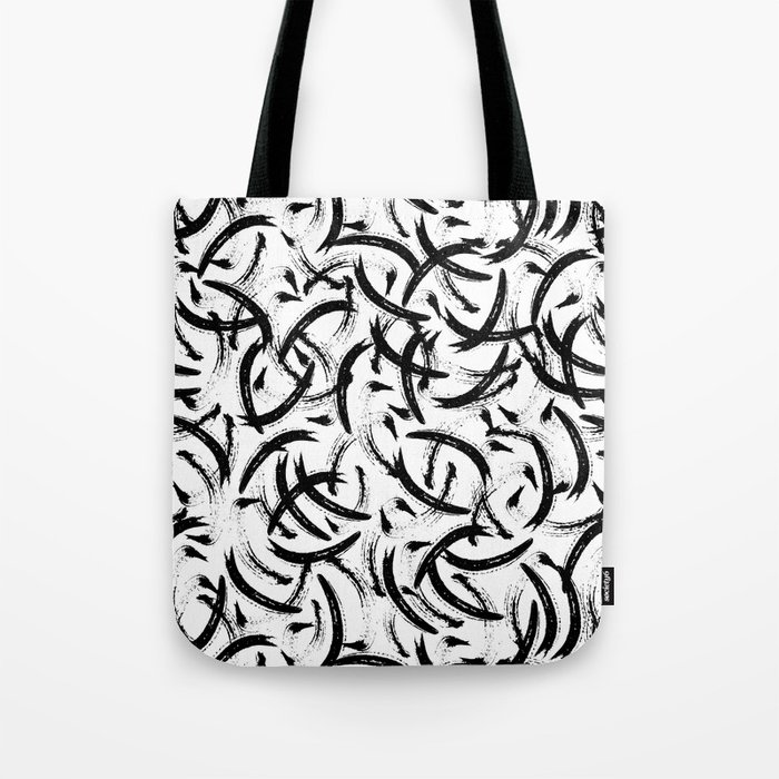 Isobel - Black and white minimal modern urban city brooklyn abstract painting art design hipster Tote Bag