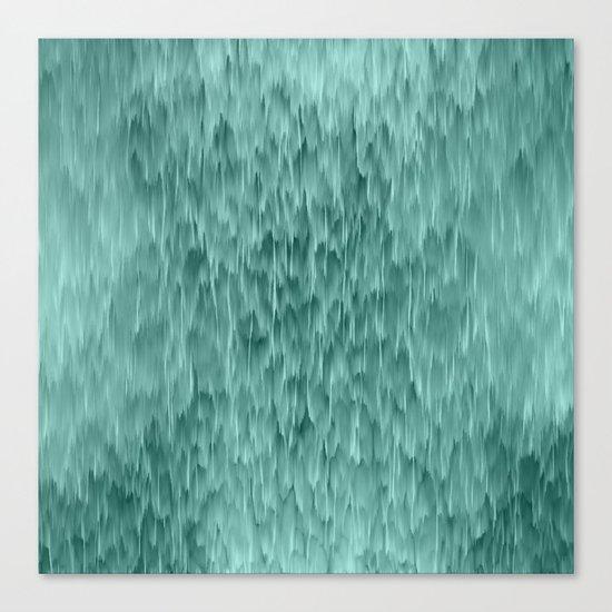 mint abstract rain Canvas Print