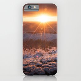 Sun Kissed Snow iPhone Case
