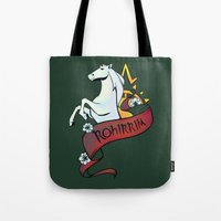 aragorn Tote Bags featuring Horse Lords by Charleighkat