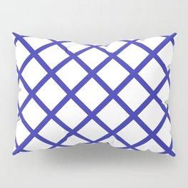 Criss-Cross (Navy Blue & White Pattern) Pillow Sham