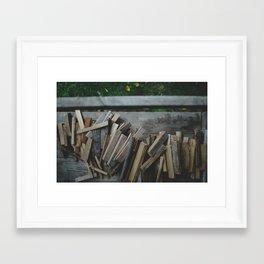 Wood pile 2 Framed Art Print