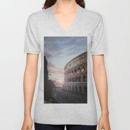 Roman Coliseum, Rome, Italy Unisex V-Neck