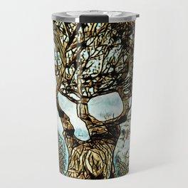 Brown Tree at Peace Travel Mug