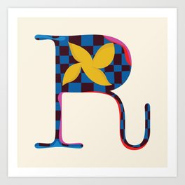 r is for rockstar Art Print