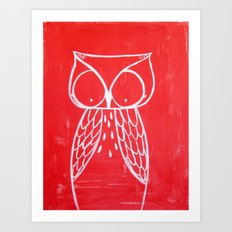 No. 008 - Modern Kids and Nursery Art - The Owl Art Print