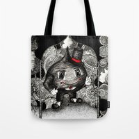 ace Tote Bags featuring Ace by Anca Chelaru