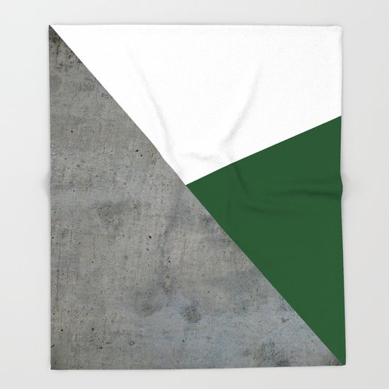 Concrete Festive Green White by byjwp