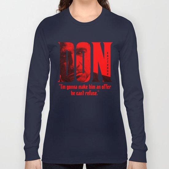 Don Vito Corleone Long Sleeve T-shirt