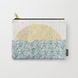 Sunny Tribal Seas Carry-All Pouch