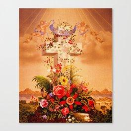Faith Hope Charity - Christian Cross Canvas Print