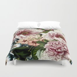 Vintage Peony and Ipomea Pattern - Smelling Dreams Duvet Cover