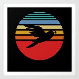Budgie, Budgie colorful bird, Budgie vintage Art Print