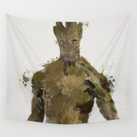 groot Wall Tapestries featuring Groot by Scofield Designs
