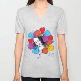 The encounter between Renaissance and Pop Art Unisex V-Neck
