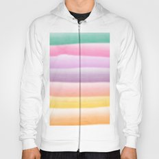 Modern hand painted multi color summer watercolor stripes pattern Hoody