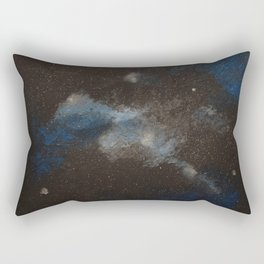 Blue and Silver Rectangular Pillow