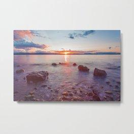 Sunset Lake Long Exposure (Color) Metal Print