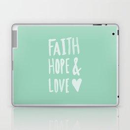 Faith Hope and Love x Mint Laptop & iPad Skin