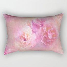 Baroque Painted Roses Rectangular Pillow