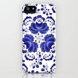 Russian folk pattern Gzhel iPhone Case