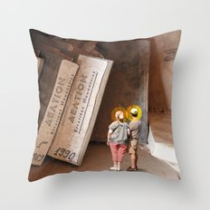 Remember History Throw Pillow