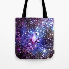 purple blue Eagle Nebula Tote Bag