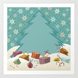 Christmas Time with Gifts Art Print