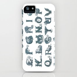 Dracoserific, a font full of Dragons (light) iPhone Case