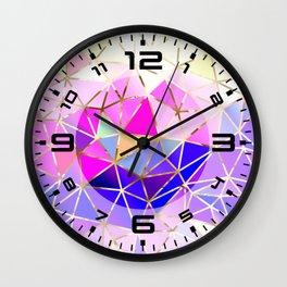 Rainbow Geometric pattern #8 Wall Clock