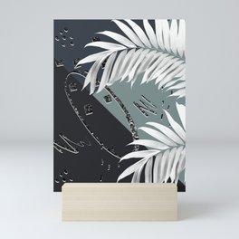 Night Palms Cali Vibes Abstract Glitter Glam #2 #tropical #decor #art #society6 Mini Art Print