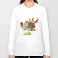 banjo Long Sleeve T-shirts featuring Banjo by Rod Perich